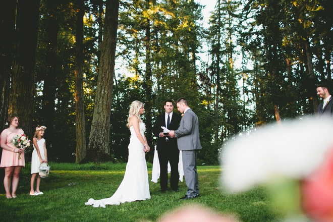 Gorgeous rustic ceremony