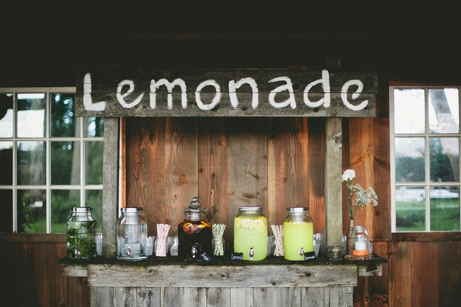 DIY lemonade bar