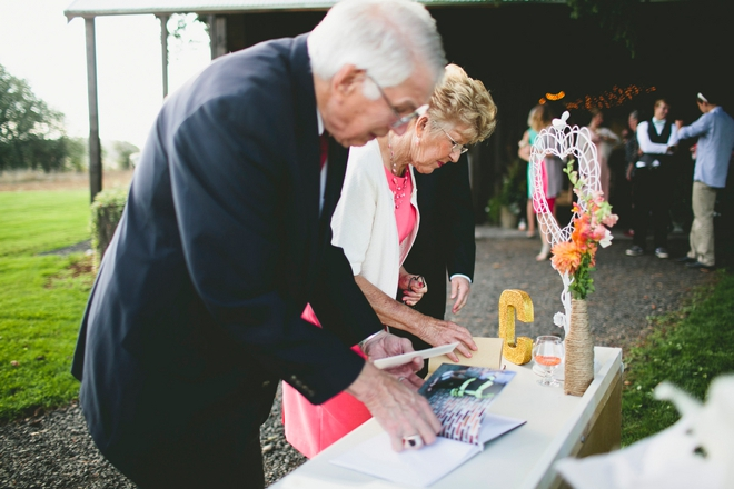 Grandma and grandpa signing in