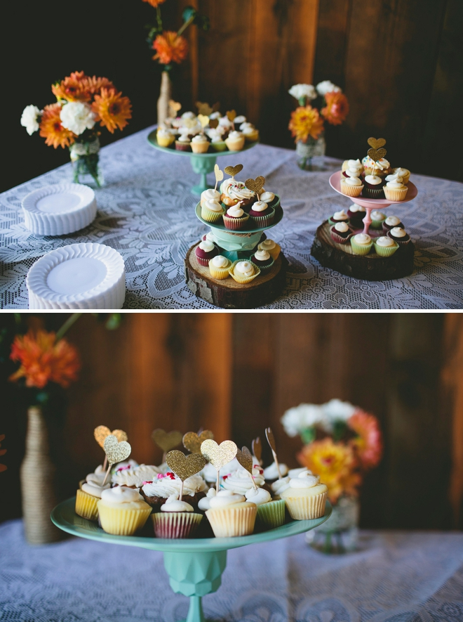 Mini wedding cupcakes