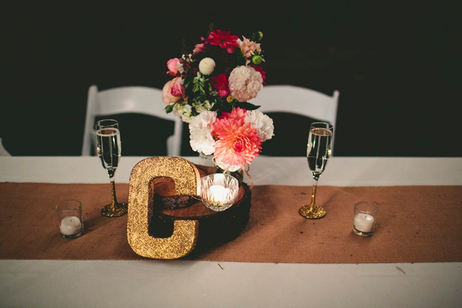 Glitter Initial and glitter wine glasses