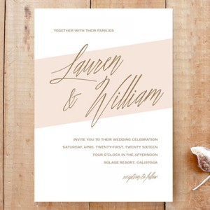 How to embellish wedding invitations from Minted