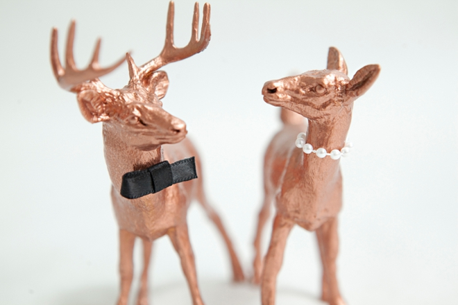 DIY Painted Deer Cake Toppers