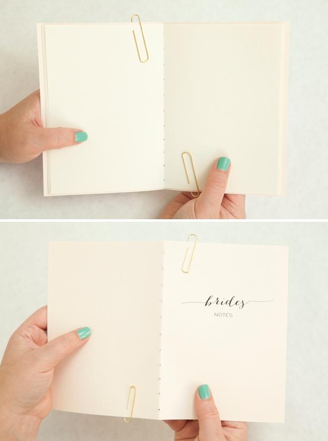 Adorable DIY wedding notebooks!