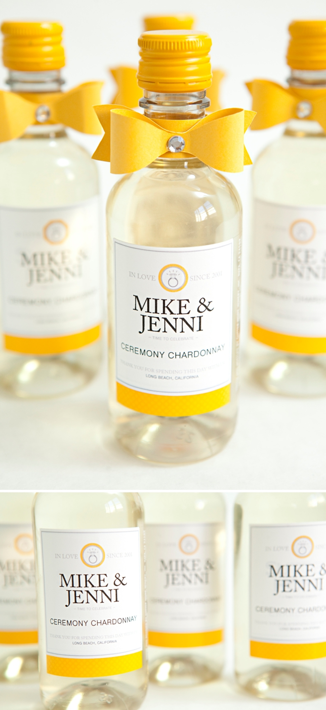 diy mini wine bottle favors bridalpulse