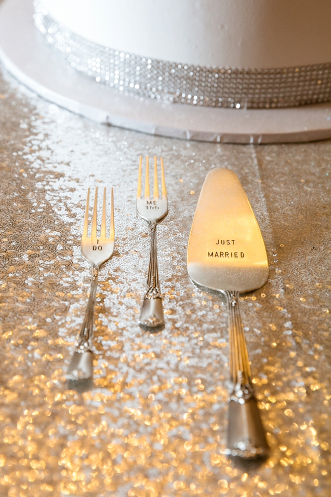 Darling wedding cake servers