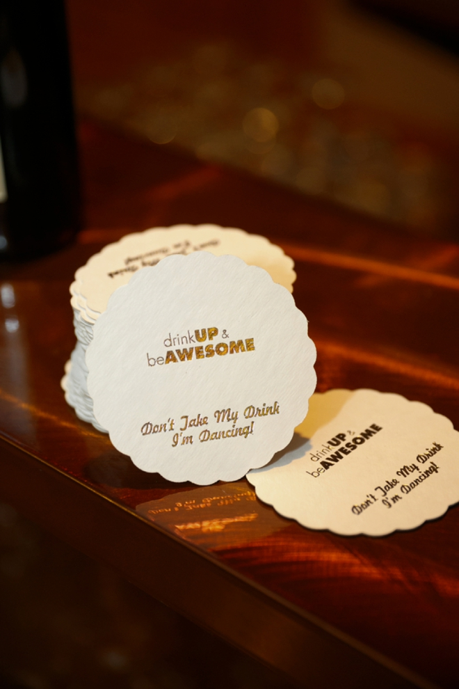 Don't take my drink, I'm dancing! coasters