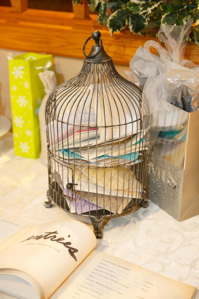 Bird cage card box