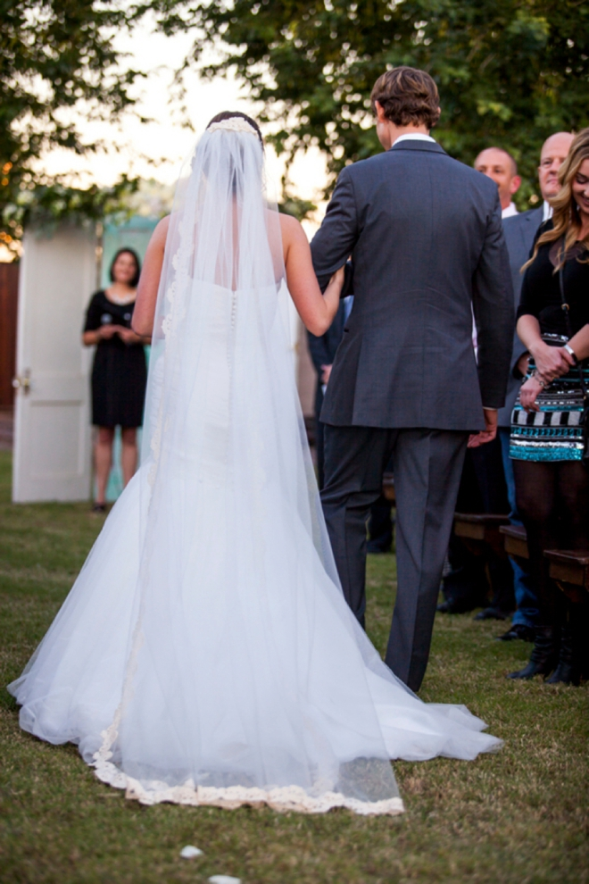 Lovely backyard wedding ceremony