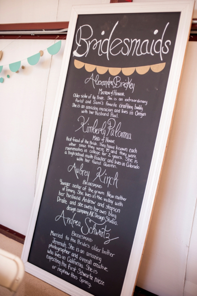 Bridesmaids sign