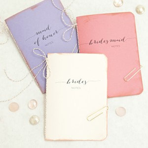DIY wedding notebook gifts