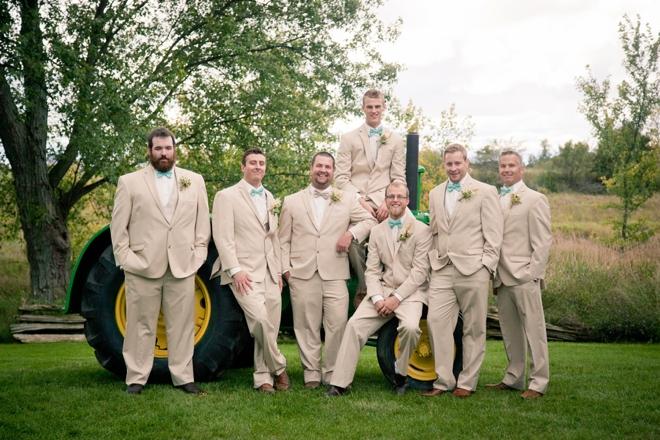 Beige groomsmen
