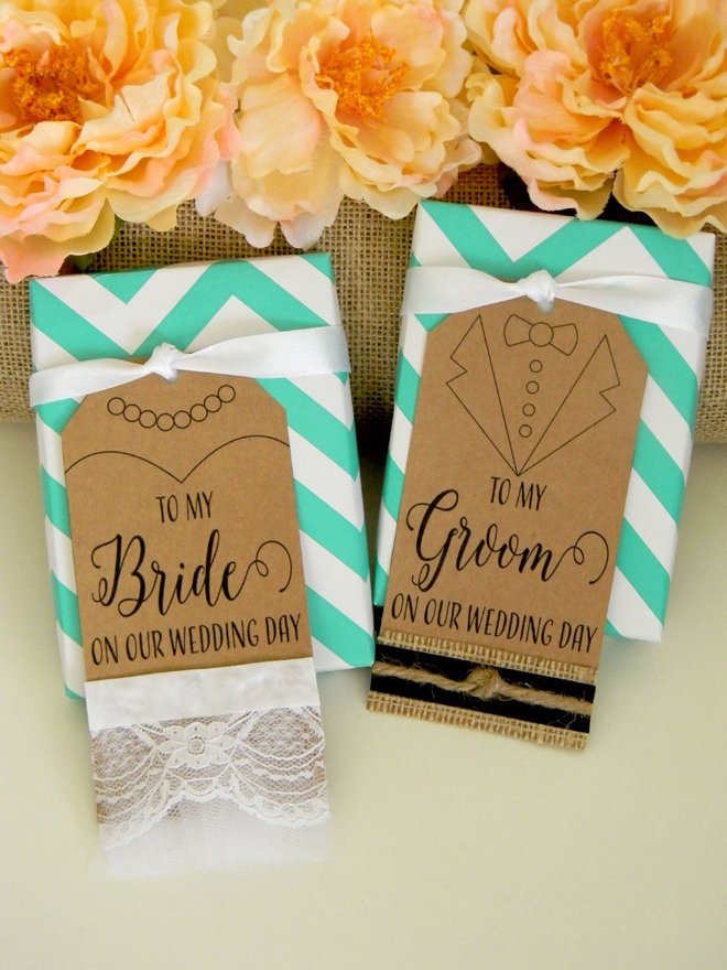 FREE bride and groom wedding gift tag printable file