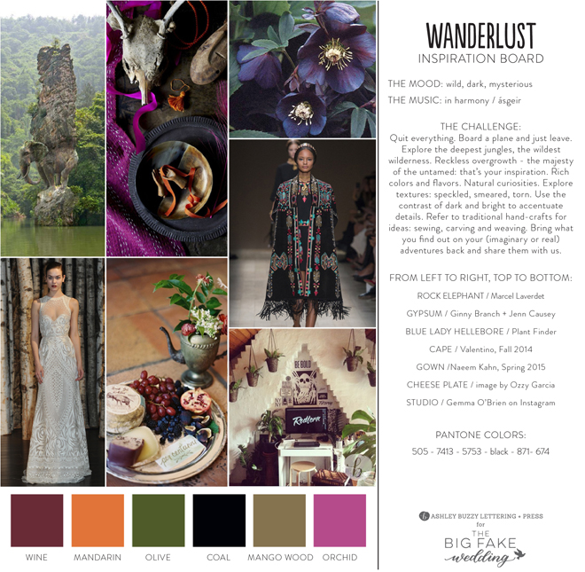 Wanderlust Theme // The Big Fake Wedding, Los Angeles 2015