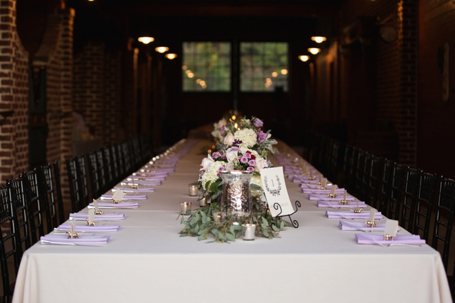 Amazing long reception table