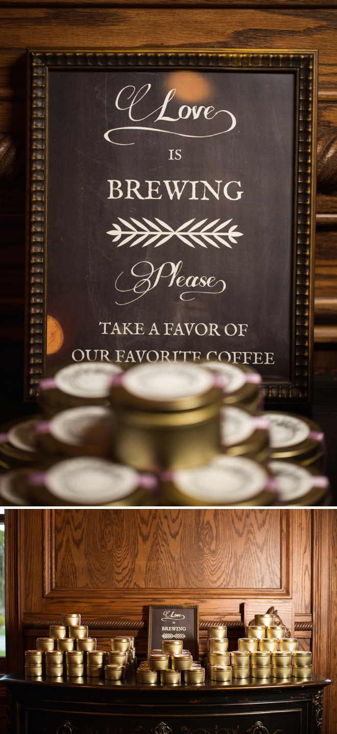 DIY coffee wedding favors
