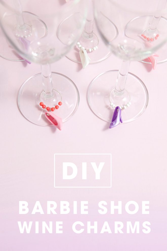 DIY Barbie Shoe Wine Charms!