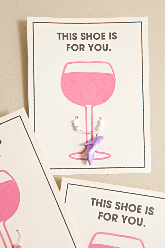 DIY Barbie Shoe Wine Charm Favors