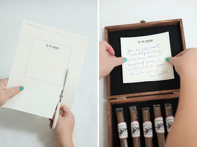 DIY Groom's Cigar Box Milestone Gift