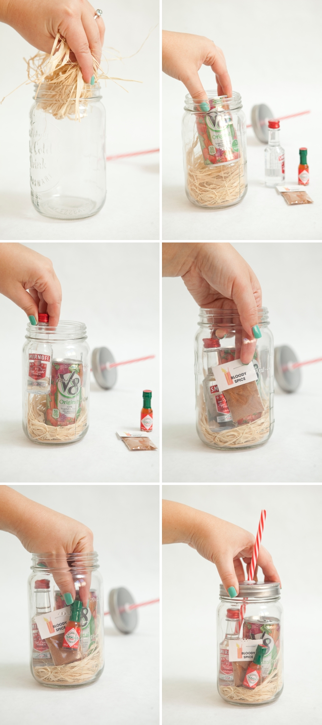 Adorable DIY Mason Jar Bloody Mary Gift
