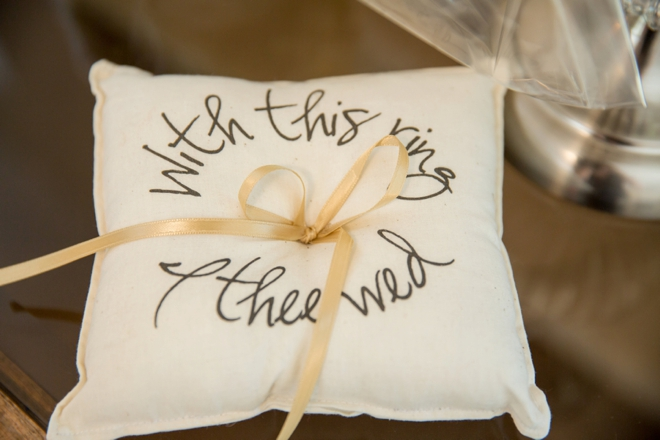 With this ring, ring bearer pillow