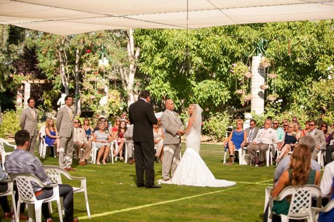Lovely DIY shabby chic wedding