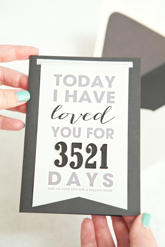 DIY Milestone Birthday Card - 22 thoughtful birthday gifts for husband that has everything - TodayWeDate.com
