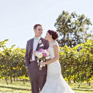 Beautiful, DIY vineyard wedding