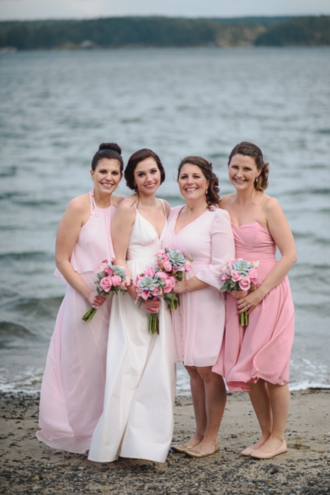 The beautiful bridesmaids