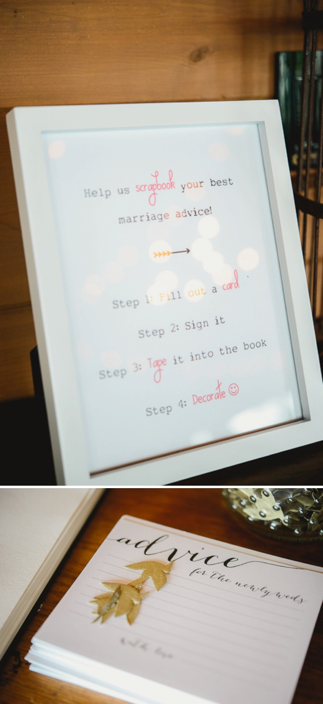 Marriage advice guest book