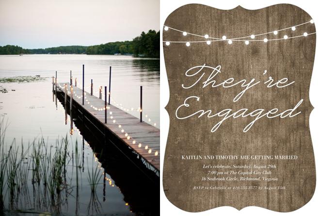 Custom Engagement Party invitation from Wedding Paper Divas