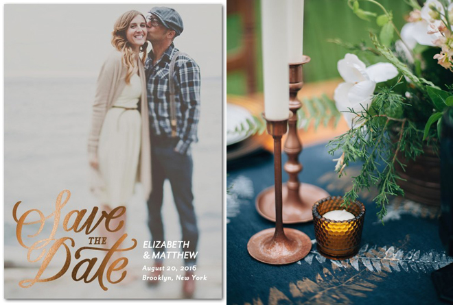 Custom Save the Date invitation from Wedding Paper Divas