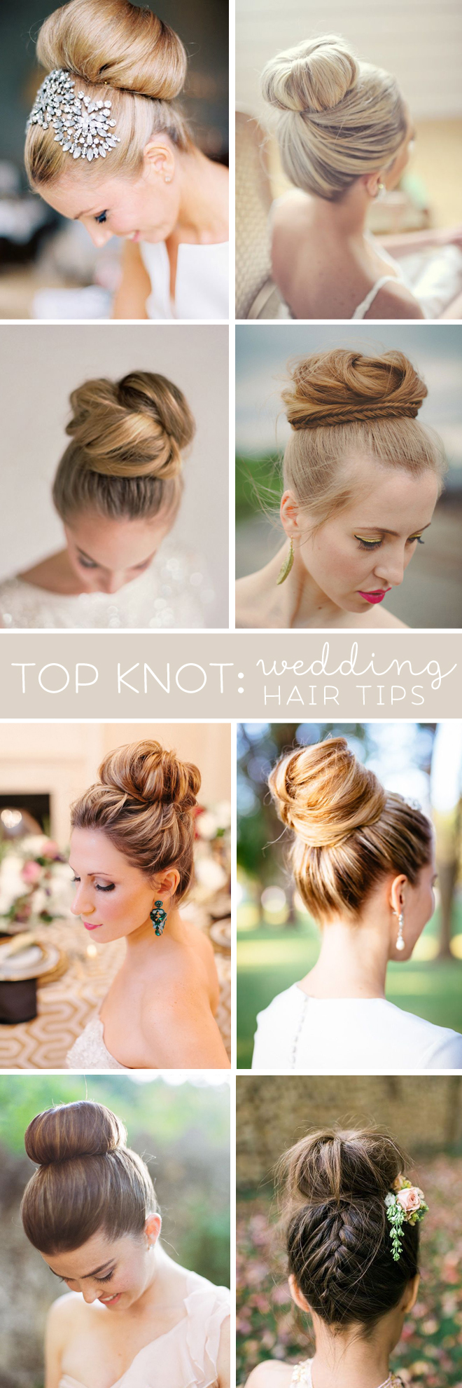 Top Knot - Wedding Hair Tips