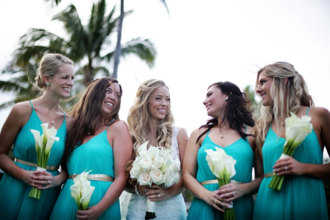 Beautiful, turquoise beach wedding