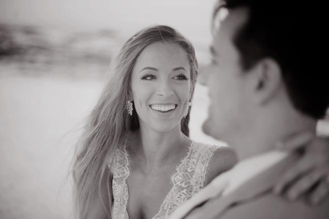 Beautiful, turquoise beach wedding