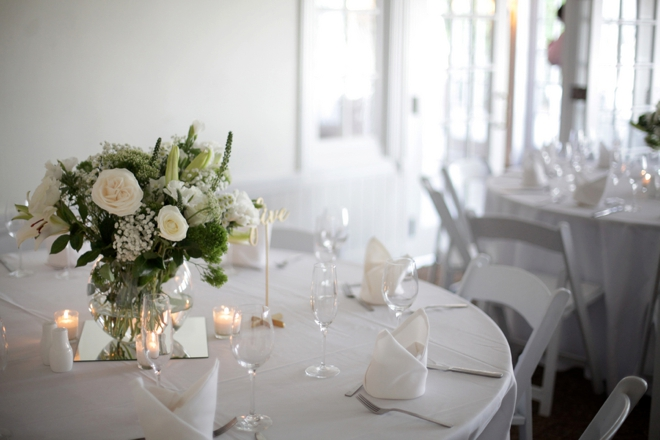 All white beach wedding decor
