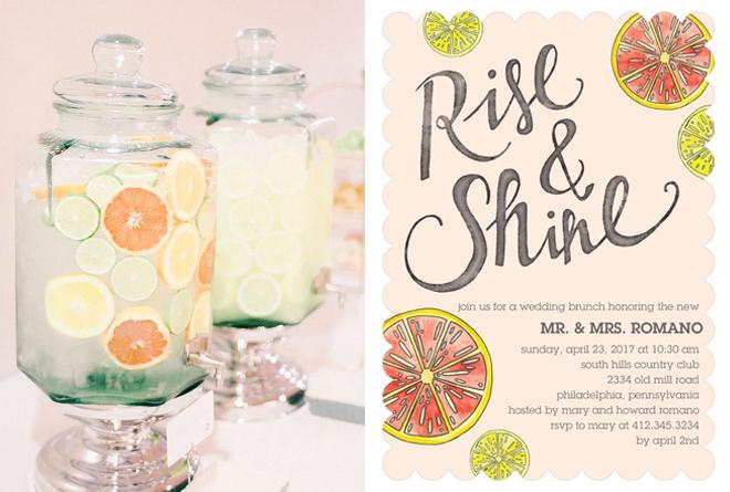 Custom brunch invitation from Wedding Paper Divas