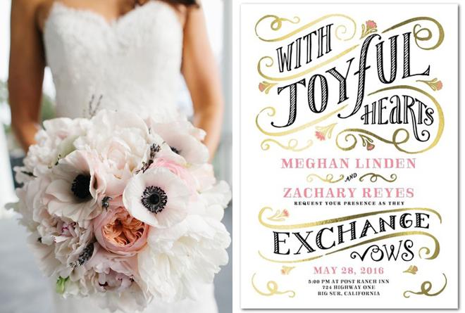 Custom wedding invitation from Wedding Paper Divas