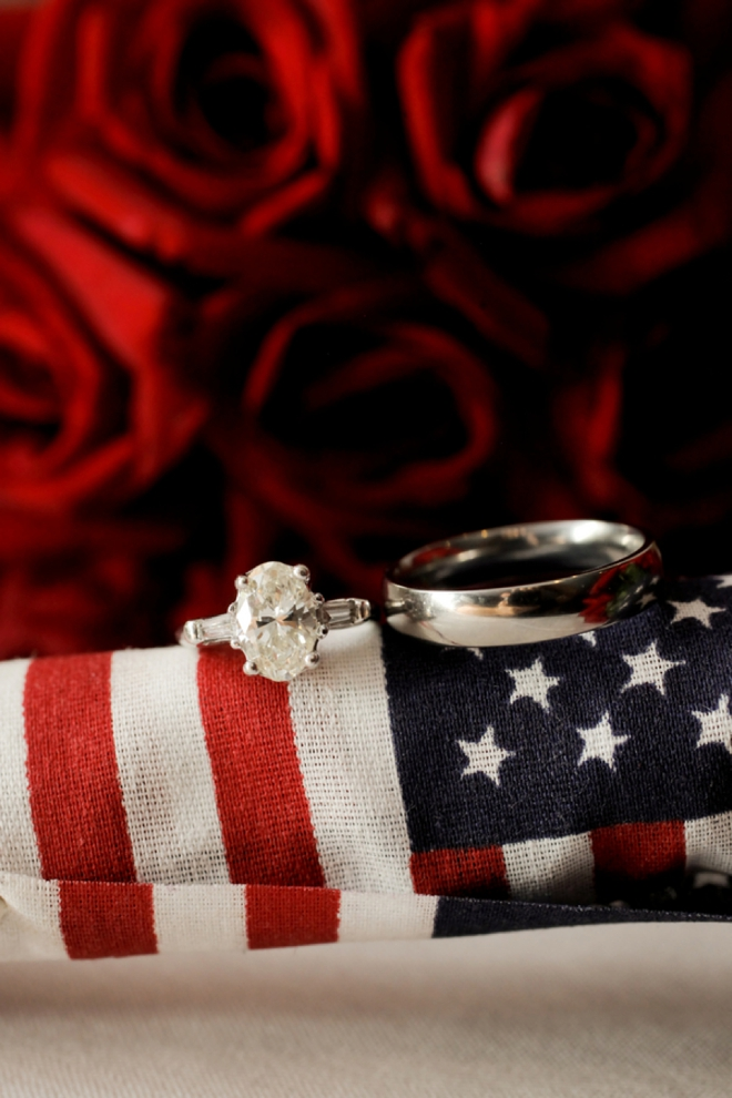 Wedding Ring shot on American Glag