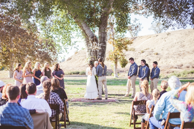 DIY Boho-chic garden wedding