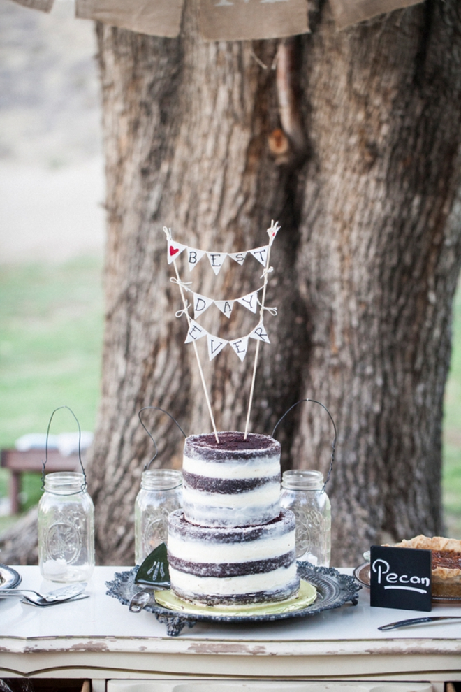 Best Day Ever, bunting cake topper