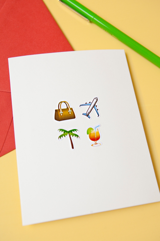 Learn how to make these awesome emoji greeting cards diy awesome emoji honeymoon greeting card m4hsunfo