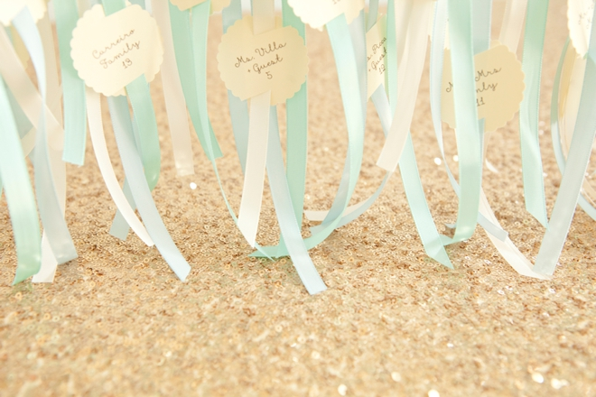 Awesome DIY galvanized pipe, escort card display!