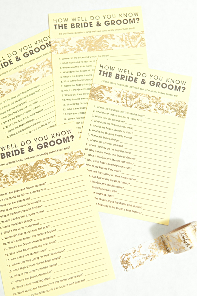 photo regarding Free Printable Bridal Shower Games How Well Do You Know the Bride titled Cost-free How Perfectly Do Yourself Realize The Bride Groom Sport!