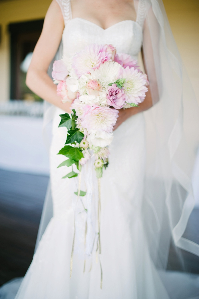 Gorgeous spray style wedding bouquet