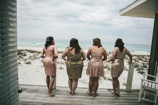 Gorgeous sequin bridesmaid dresses