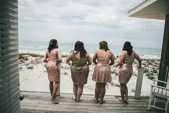 Gorgeous sequin bridesmaid dresses