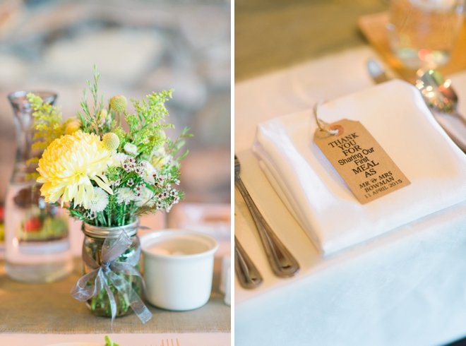 Beautiful yellow and gray DIY wedding