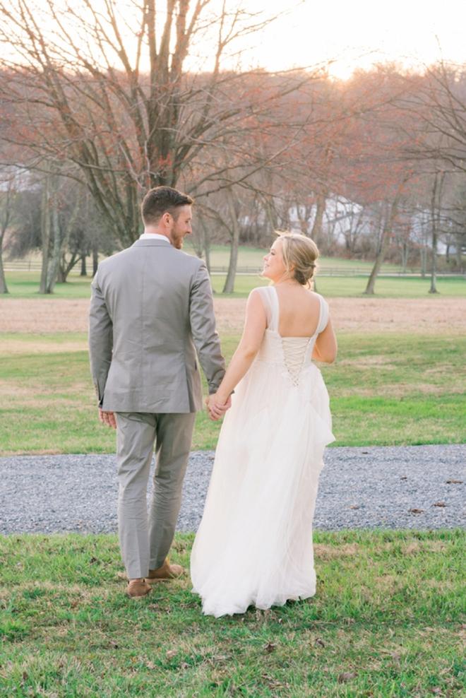 Beautiful yellow and gray DIY wedding