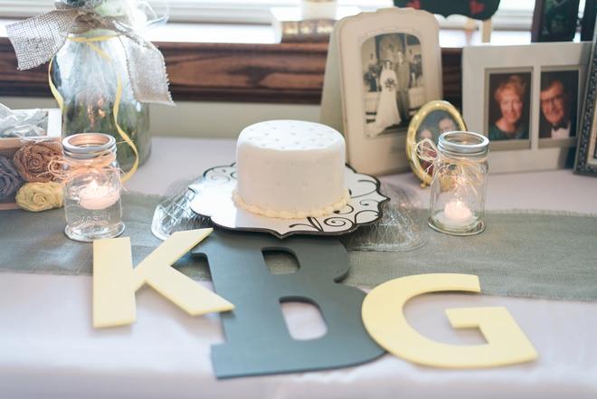 Small wedding cut cake